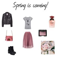 Spring is coming! by netstylistka on Polyvore featuring moda, MANGO, Zara, Furla, NARS Cosmetics and Dolce&Gabbana