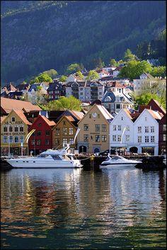 Bryggen, Bergen, Hordaland_ Norway