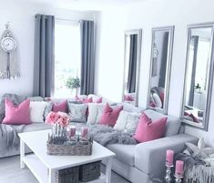42 secret weapon for modern home design interior living room decoration ideas 35 Pink Living Room, Living Room Decor Modern, Living Room Inspiration, Living Room Decor Cozy, Room Inspiration, Living Room Designs, Apartment Living Room, Living Decor, Room Decor
