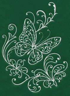 Spring Whitework Butterfly 1 design (K9773) from www.Emblibrary.com