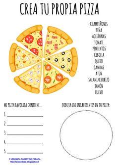 VOCABULARIO DE LA COMIDA:  ¡UNA PIZZA, POR FAVOR!   Hoy vuelvo a traeros una nueva actividad para niños de primaria. Se trata de tres fich...
