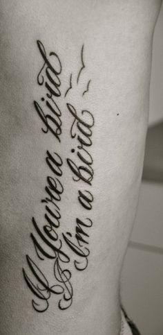 If you're a bird, I'm a bird. I approve of this tattoo :)