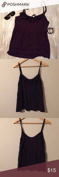⭐️Final Price⭐️ Torrid Black Tank with Ruffle Great condition! Torrid Black tank with adjustable straps and a sweet ruffle. Empire waisted. Perfect for summer!! Accessories not included. torrid Tops Tank Tops