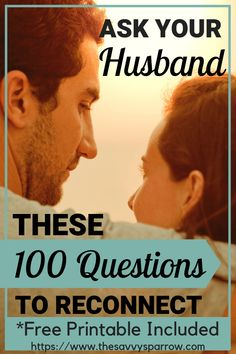 These 100 questions to ask your spouse are perfect conversations starters for married people! Reconnect with your spouse with these intimate, funny and romantic questions to ask your husband. Great communication tips for marriage!