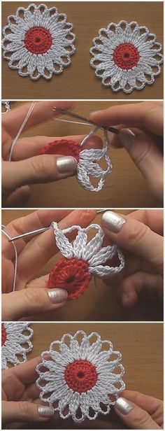 Crochet Flower Motif Tutorial