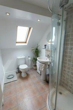 Ensuite Bathroom In Victorian House en suite loft conversion victorian terrace london; clever mirror