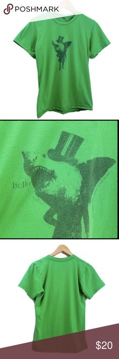 "American Apparel ""Gentleman Shark"" Shirt Small Top Hat Shark ""Hello"" ""I am a Great Shark and I Love You""  Size: Small ( S )  Material: 100% Cotton    ironic funny weird hipster screen printed tees tee shirt t-shirt American Apparel Shirts Tees - Short Sleeve"