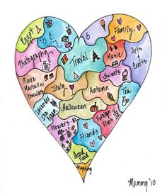 Art therapy activities writing Heart Map-so doing this project with my students.would be a fun way of getting to know them at the beginning of the year. Beginning Of The School Year, First Day Of School, Middle School, Art Therapy Activities, Writing Activities, Writing Topics, Therapy Ideas, Writing Ideas, Writers Notebook