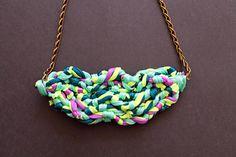 fabric necklaces | Diy Fabric Necklace