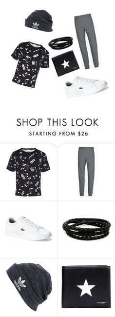 """""""Untitled #4"""" by abdulazizsal ❤ liked on Polyvore featuring Yves Saint Laurent, Maison Margiela, Lacoste, Porsche Design, adidas and Givenchy"""