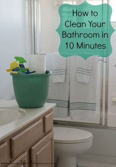 How to Clean Your Bathroom in 10 Minutes (or less!) #savewithbubbles #ad