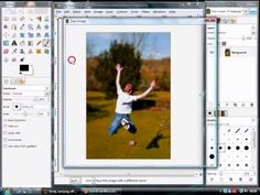 How to Blur the background of an image in GIMP- soooo useful!