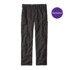 M's Iron Forge Hemp™ Canvas Cargo Pants - Regular, Ink Black (INBK)