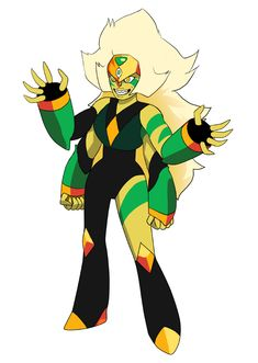 "spectrumtonic: ""An idea of what Jasper and Peridot fusion could look like. Zircon! """