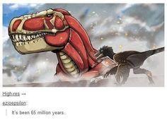 Shingeki no como é  dinossauro em japonês kkkk