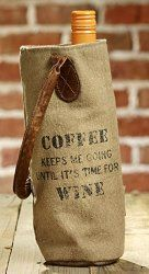 Check out these adorable wine bags made from coffee bag burlap!