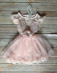 Pink Lace Toddler Girls Dress Pink Flower by AvaMadisonBoutique, $48.95
