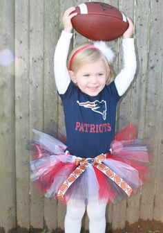 New England Patriots TuTu - Perfect for your Football Princess (Newborn to 5T) - SUPER BOWL