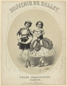 Ballet and opera images on 19th-century music covers - NYPL Digital Collections