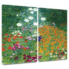 Farm Garden 2 piece gallery-wrapped canvas Gallery Wrapped Canvas Set by Gustav Klimt at Art.com