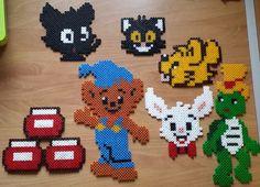 Bamse och hans vänner Fuse Bead Patterns, Beading Patterns, Cross Stitch Patterns, Minion 2, Fuse Beads, Pearler Beads, Rainbow Dash, Elsa Frozen, Pokemon Go
