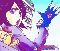 Rukia Kuchiki and Kon Bleach Ichigo And Rukia, Kuchiki Rukia, Bleach Manga, Bleach Characters, Manga Characters, Fan Anime, Anime Manga, Bleach Drawing, Bleach Pictures
