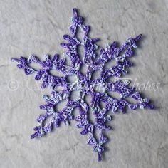 Enchanted Forest Snowflake - Snowflake and Tree Pattern #Crochet