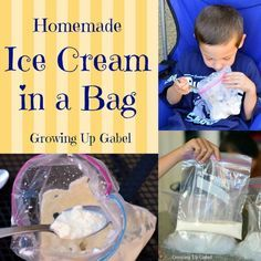 Fun treat for these hot summer days. Make your own Ice Cream in a Bag with your kids.