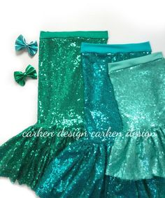 The perfect mermaid skirt for you or your girl! This sequin maxi skirt will make your parties, events or Halloween costume sparkle!