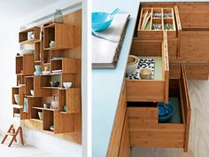 Bamboo kitchen furniture from We Do Wood - Decoist