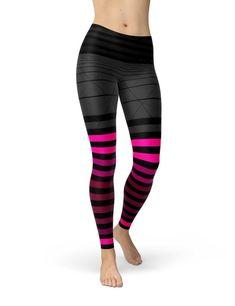 fa63ff2c2cdc6 Hot Pink Ombre Workout Leggings | Black Striped Leggings | Gray Yoga  Leggings Women | Soft Stretch L