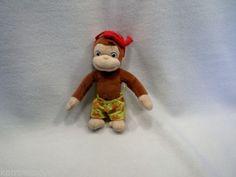 Curious George Scuba diver Plush Monkey toy doll Jakks Pacific USED Doll Toys, Dolls, Curious George, Elf On The Shelf, Monkey, Plush, Disney Princess, Holiday Decor, Disney Characters