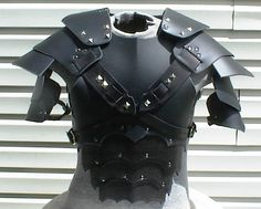 Gothic leather armor chest back & shoulders