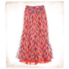 Long flowy colorful skirt Very flowly and colorful! Great condition! aerie Skirts Maxi