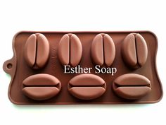 D019 3D 7-cavities coffee bean shaped silicone by EstherSoap