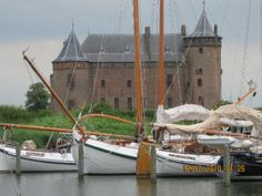 Muiderslot, Muiden at the north end of the Vecht river.
