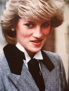 March 7, 1984 Princess Diana visits the Lisson Grove Health Centre to view a display on a Rubella German Measles Vaccine Programme