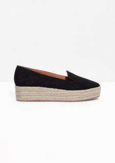 The refreshing espandrille style is elevated to form these platform slip-ons made from softest suede.