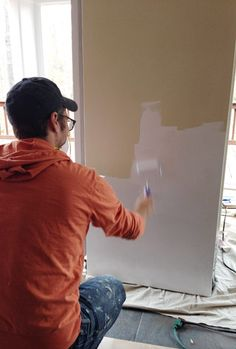 Young House Love | How To Paint A Refrigerator With Appliance Paint | http://www.younghouselove.com