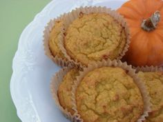 Coconut Flour Pumpkin Muffins- can also use carrot or squash in place of pumpkin