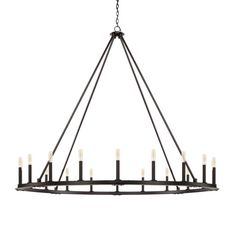 20 light chandelier with Black Iron finish. 20 Light Chandelier from the Pearson collection in Black Iron finish Large Foyer Chandeliers, Entryway Chandelier, Ring Chandelier, Wagon Wheel Chandelier, Iron Chandeliers, Chandelier Lighting, Rectangular Chandelier, Kitchen Chandelier, Chandelier Shades
