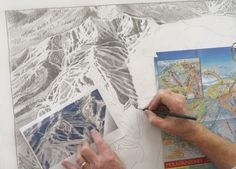 Monet of the Mountain: How a Ski Maps Painter Owns His Niche Market
