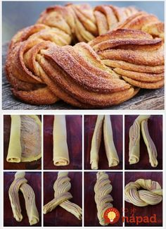 Homestead Survival: Braided Cinnamon Wreath Recipe and Method I'd only try it with my mom's cinnamon roll recipe! Braided Cinnamon Wreath Recipe and Technique, Nice For Christmas Morning - Thehomesteadsurvival Braided Cinnamon Wreath Recipe - gonna make t Cinnamon Wreath Recipe, Breakfast Recipes, Dessert Recipes, Breakfast Ideas, Breakfast Casserole, Breakfast Bake, Breakfast Croissant, Dessert Bread, Breakfast Muffins