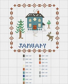 Rosewood Stitchery: FREE SAL a calendar of cottages