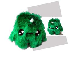 Fluse Kawaii Plush Unicorn cute monster green by Fluse123 on Etsy, €16.00