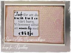 Tackkort till lärarna - Thank you card made by DT-Rosa.  http://shop.pysseldags.se