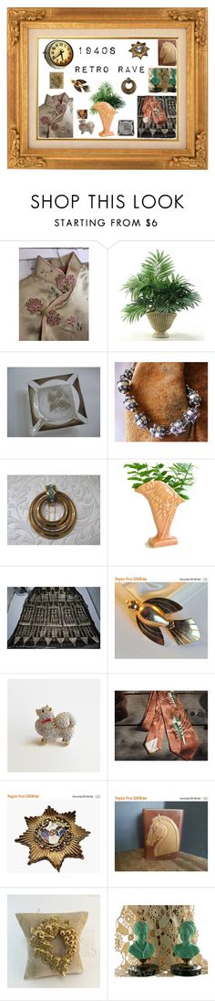 """""""1940s Retro Rave"""" by anna-ragland ❤ liked on Polyvore featuring Home Decorators Collection, Georges Briard, CORO, Wine Enthusiast and Seiko"""
