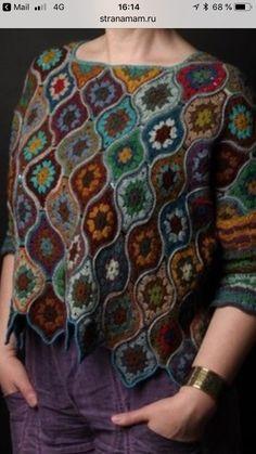 Inspiratie Crochet Coat, Crochet Shirt, Crochet Jacket, Crochet Cardigan, Crochet Clothes, Afghan Crochet Patterns, Crochet Stitches, Knitting Patterns, Crochet Lingerie