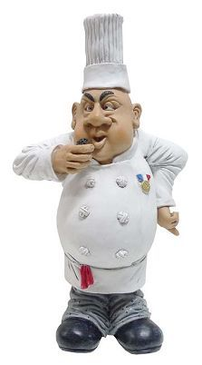 Chef Poly Resin Art by Warren Stratford Porcelain Clay, Cold Porcelain, Class Comics, Fantasy Figures, Canadian Artists, Comic Artist, Corporate Gifts, Resin Art, Wood Carving