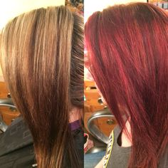 Before and After ... fringe salon Wichita